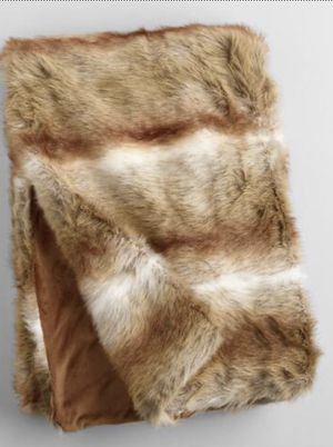 World Market faux Fur throw for Sale in Round Rock, TX