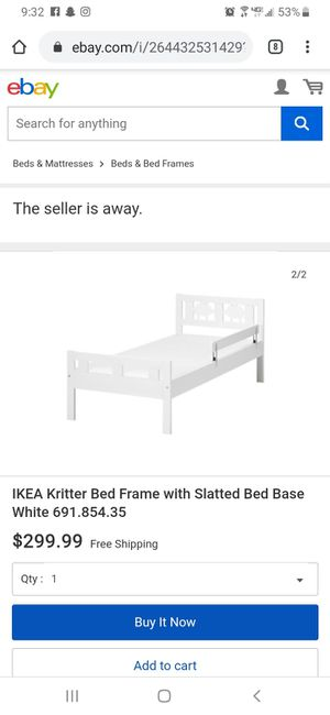 Ikea Kritter Bed Frame With Mattress for Sale in Tulare, CA