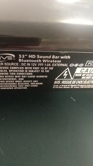 HD sound bar, iLive 32 in. w/ Bluetooth connection for Sale in Kent, WA