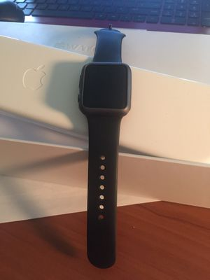 Apple iWatch 36 mm case. 7009 series Space Grey Black Sport Band for Sale in Chambersburg, PA