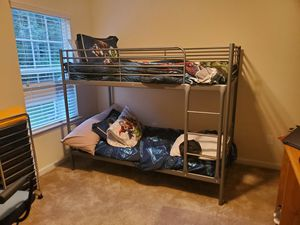 Twin size bunk bed with mattresses included. for Sale in Kennesaw, GA