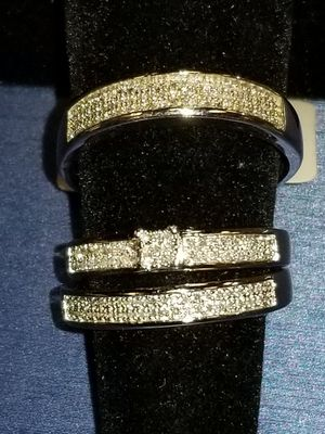 three band wedding set... very nice..new for Sale in Charlotte, NC