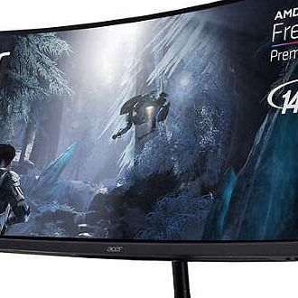 """Acer 34"""" Class QHD FreeSync Curved Gaming Monitor"""