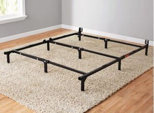 """New 7"""" Adjustable Bed Frame, Black Steel, Twin/Full/Queen for Sale in Columbia, SC"""