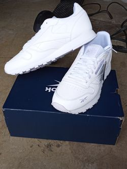 All White Reebok Classics/ Reflective Size 9.5 Men for Sale in Snellville,  GA
