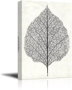 Big Vintage Style Leaf Vein - Giclee Print Gallery Wrap Modern Home Art Ready to Hang - 32x48 inches for Sale in Chicago, IL