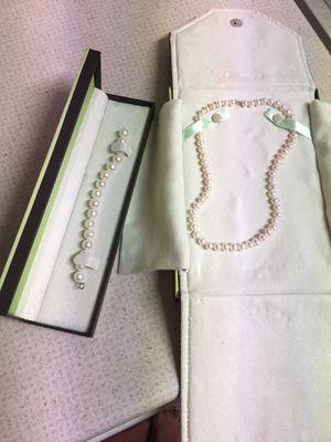 Ross Simons Pearls Necklace and Bracelet for Sale in Manassas, VA