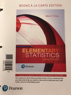 Elementary Statistics 6E (Loose pages) BRAND NEW Read Description ISBN-13 978-0-13-476376-7 for Sale in San Bernardino, CA