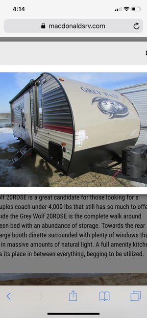 2018 grey wolf limited camper for Sale in Plymouth, MA