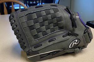 Rawlings Storm Softball Youth Glove-purple black for Sale in Lynnwood, WA