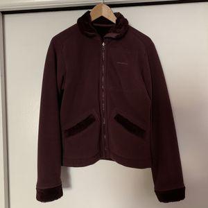 PATAGONIA Medium Reversible Womens Synchilla Sherpa Fleece Jacket Purple for Sale in Los Angeles, CA