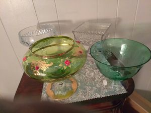 VINTAGE GLASSWARE, INDIANA GLASS, MILK GLASS, COLONY, ANCHOR, ETC., MANY NAME BRANDS for Sale in Murray, UT