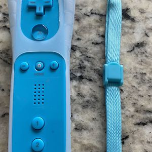 Remote Motion Plus Controller for Nintendo Wii & Wii U Video Game Gamepads (Blue) for Sale in San Diego, CA