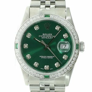 Rolex Datejust Unisex Watch Stainless Steel Green Diamond Dial-Bezel 36mm 16234 for Sale in Westminster, CA