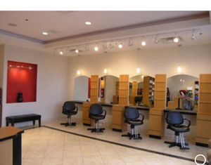 salon stations with cabinets chairs mirrors drawers glass shelf shelves shampoo sink with chair NEW BEST OFFER serious inquires only Please for Sale in Clarksburg, MD