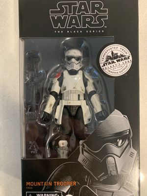 Mountain Trooper Black Series Figure Star Wars Galaxy's Edge Trading Post Target Exclusive E9626 Disney Hasbro for Sale in Lewisville, TX