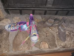 Size 4 girls sneakers and boots for Sale in Stone Mountain, GA