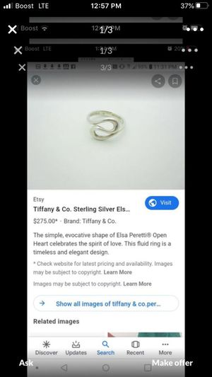 Beautiful Tiffany ring for Sale in Bakersfield, CA