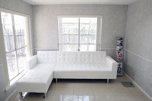 New white leather sectional futon for Sale in Austin, TX
