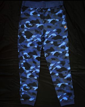 Bape Color Camo Navy Sweatpants Online Exclusive for Sale in Taunton, MA