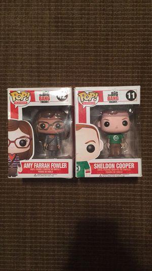 RARE! Sheldon Cooper and Amy Pop Figures! for Sale in Santa Monica, CA