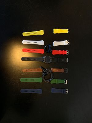 Samsung Galaxy Gear S3 Smart Watch w/ 6 Bands for Sale in Silver Spring, MD