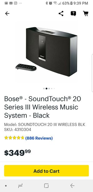 Bose soundtouch 20 for Sale in Miami, FL