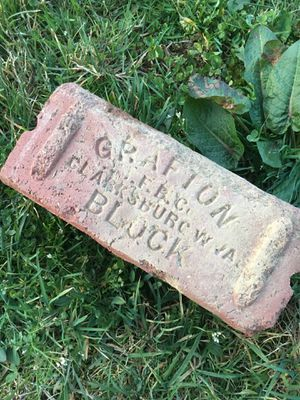 Antique brick street block for Sale in Cowen, WV