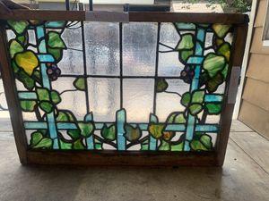 Antique leaded stain glass window for Sale in Philadelphia, PA