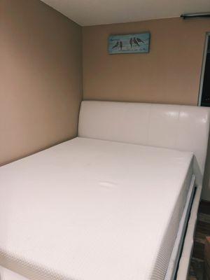 Beautiful Bed Frame & Memory Foam Mattress for Sale in Auburn, WA