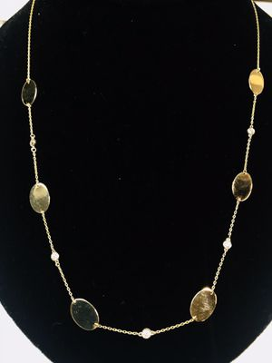 14k gold and diamond bezels necklace for Sale in Edgewater, NJ