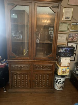 China Cabinet Antique Wood for Sale in Anaheim, CA