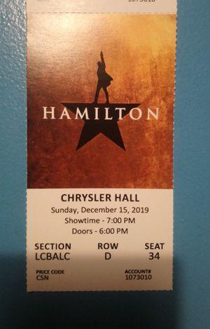 Hamilton Ticket for Sale in Virginia Beach, VA