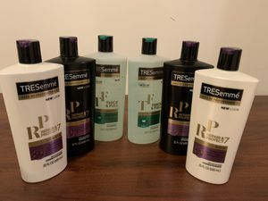 6 Tresemme Pro shampoos and conditioners for Sale in Olney, MD