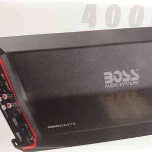 Car amplifier : new BOSS elite 4000 watts class D monoblock power amplifier 1 ohm built in crossover 40a fuse ×3 remote sub control ( brand new ) for Sale in Bell Gardens, CA
