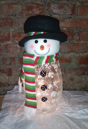 Handcrafted Snowman (LED) for Sale in Philadelphia, PA