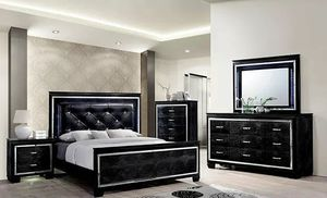 Black glamor bedroom set for Sale in Charlotte, NC