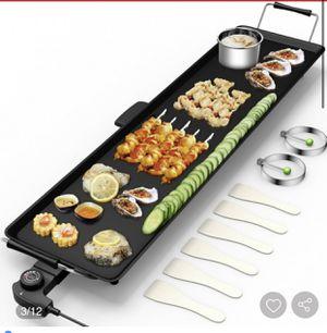 Electric Teppanyaki Table Top Grill Griddle 🍢 for Sale in San Bernardino, CA