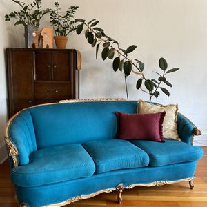 peacock blue couch for Sale in Seattle, WA
