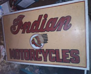 INDIAN MOTORCYCLES SIGN for Sale in Snohomish, WA