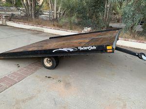 Flat bed tilt 8ft5inch wide 10 ft long trailer for Sale in Menifee, CA