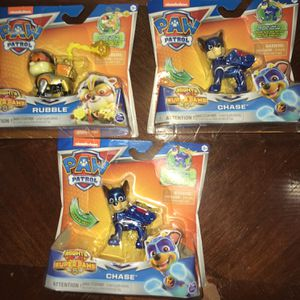 PAW Patrol, Mighty Pups Super PAWs Chase Figure with Transforming Backpack, for Kids Aged 3 and UpFour dollars each for Sale in Queen Creek, AZ
