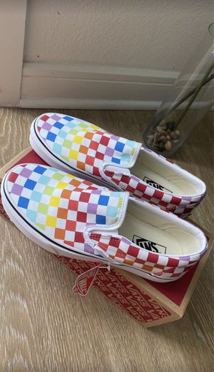 Rainbow checkered vans for Sale in Little Elm, TX