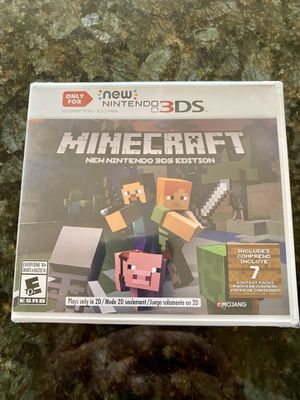 Minecraft- Nintendo 3DS - brand new for Sale in Snohomish, WA