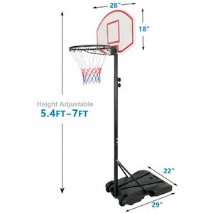 7FT Basketball Hoop Rim Portable Stand for Kid Junior Practice Shoot with Wheels for Sale in Lake Elsinore, CA
