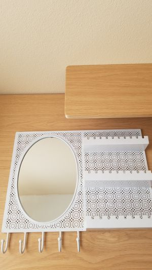 Urban Outfitters Oval Mirror with Shelves and Hooks for Sale in Santa Ana, CA