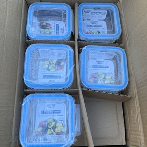 Lot of 5 SHARPER IMAGE Glass food storage containers for Sale in Ontario, CA