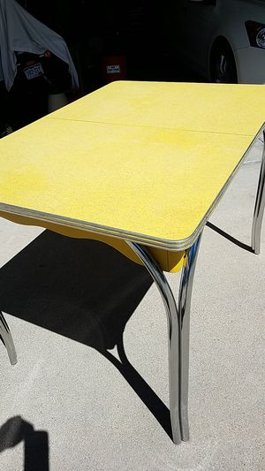 Rotro antique table yellow for Sale in Arvada, CO
