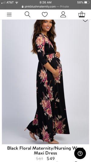PINK BLUSH Black Floral Maternity/Nursing Dress for Sale in Georgetown, TX
