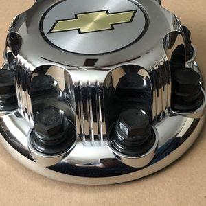 Chevy CHROME 8 Lug Center Caps AVALANCHE SUBURBAN SILVERADO 2500 3500 for Sale in Downey, CA